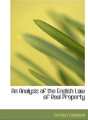 An Analysis of the English Law of Real Property