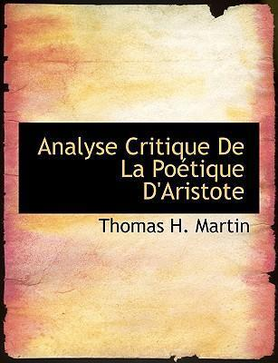 Analyse Critique de La Poactique D'Aristote