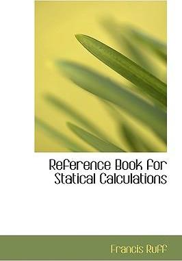 Reference Book for Statical Calculations