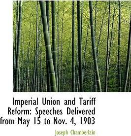 Imperial Union and Tariff Reform