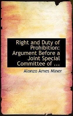 Right and Duty of Prohibition