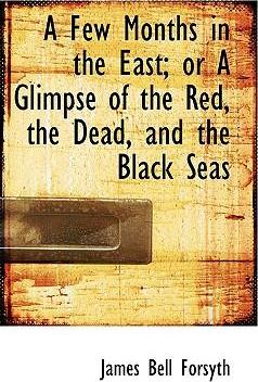 A Few Months in the East; Or a Glimpse of the Red, the Dead, and the Black Seas