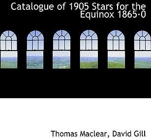 Catalogue of 1905 Stars for the Equinox 1865am0