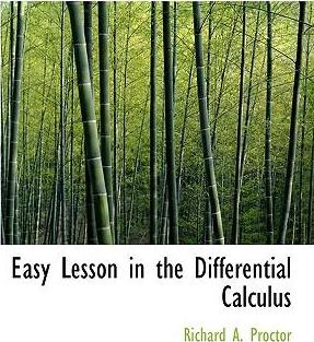 Easy Lesson in the Differential Calculus