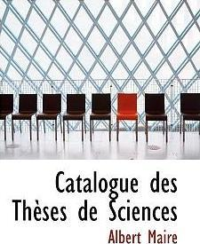 Catalogue Des Thauses de Sciences