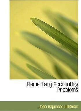 Elementary Accounting Problems