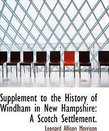 Supplement to the History of Windham in New Hampshire