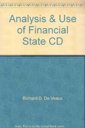 ANALYSIS & USE OF FINANCIAL STATE CD