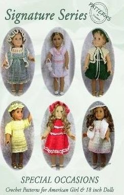 Signature Series SPECIAL OCCASIONS: Crochet Patterns for All American Girl & 18 Inch Dolls B&W