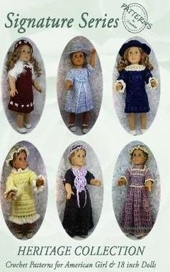 Signature Series HERITAGE COLLECTION: Crochet Patterns for 18 Inch All American Girl Dolls B&W