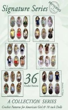 PatternsByJeannine SIGNATURE SERIES: All American Girls - 36 Crochet Patterns for 18 Inch Dolls