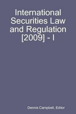International Securities Law and Regulation [2009] - I