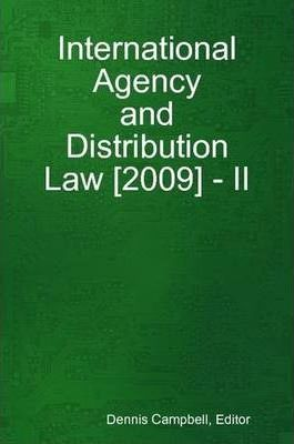 International Agency and Distribution Law [2009] - II