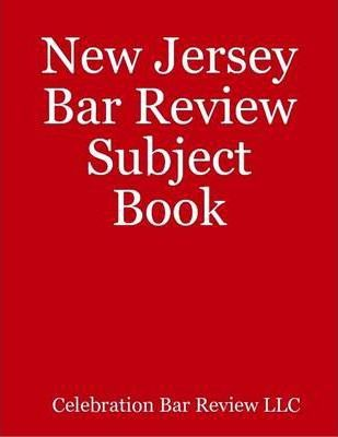 New Jersey Bar Review Subject Book