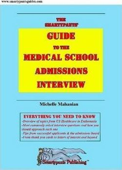 The Smartypants' Guide to the Medical School Admissions Interview