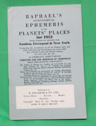 Raphael's Astronomical Ephemeris 1912
