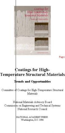 Coatings for High-Temperature Structural Materials