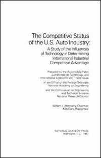 The Competitive Status of the U.S. Auto Industry
