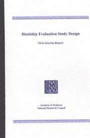 Disability Evaluation Study Design