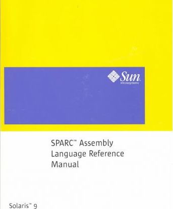 Sparc Assembly Language Reference Manual