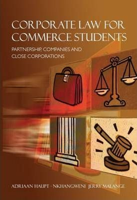 Corporate Law for Commerce Students : Adriaan Haupt