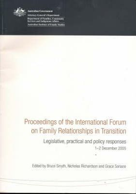 Proceedings of the International Forum on Family Relationships in Transition