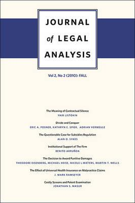 Journal of Legal Analysis Fall v. 2, No. 2  Fall
