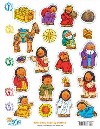 Vacation Bible School 2009 Camp E.D.G.E. Bible Story Activity Stickers Vbs