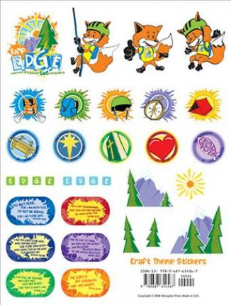 Vacation Bible School 2009 Camp E.D.G.E. Craft Theme Stickers (Package of 12 Sheets) Vbs