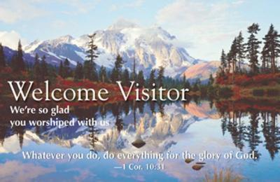 Welcome Visitor Reflecting Lake Postcard