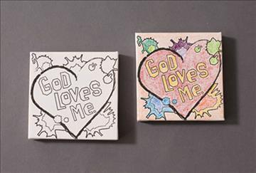 Vbs09 Ce Canvas Art Craft 4 in