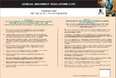 Schedule D of the General Machinery Regulations of the Occupational Health and Safety Act 85 of 1993