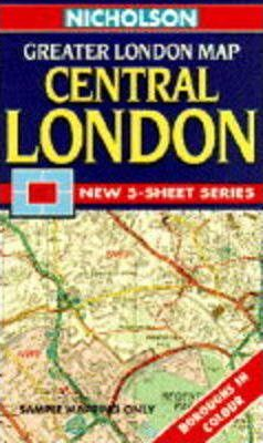 Nicholson Greater London Map: Central London Sheet 5