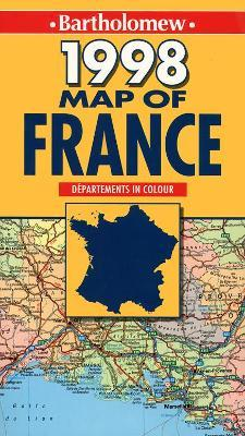 Map of France 1998
