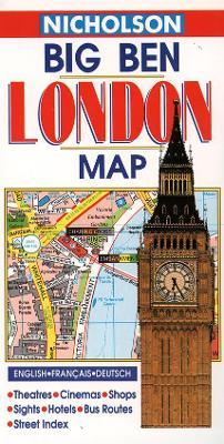 Nicholson London Big Ben Map