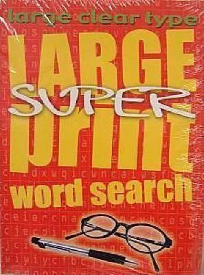 Large Super Print Word Search