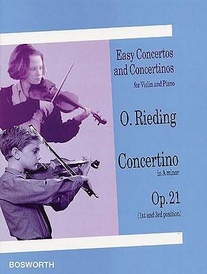 Easy Concertos and Concertinos for Violin and Piano  Concertino in a Minor Op. 21 1st and 3rd Position
