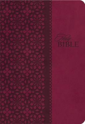 KJV, End-of-Verse Reference Bible, Personal Size, Giant Print, Imitation Leather, Burgundy, Indexed, Red Letter Edition