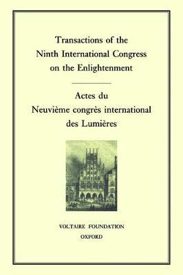 Transactions of the Ninth International Conference on the Enlightenment