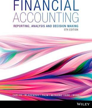 Financial Accounting: Reporting, Analysis And Decision Making 5E WileyPLUS Stand-Alone Card