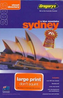 Gregory's Sydney Large Street Directory