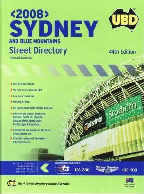 UBD Street Directory Sydney and Blue Mountains 2008