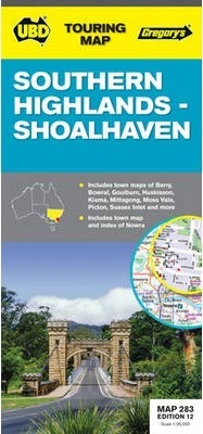 Southern Highlands, Shoalhaven and Goulburn Regional Touring Map 283