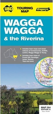 Wagga Wagga & the Riverina Map 284 18th ed