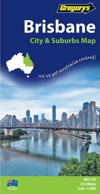 Gregory's Brisbane City and Suburbs Map 418