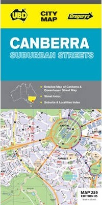 Canberra Suburban Streets Map 259