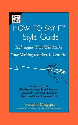 The How to Say It: Style Guide