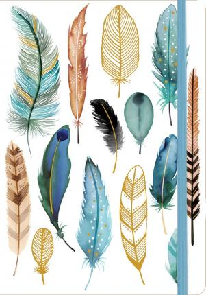 Feathers Gilded Journal Galison 9780735342040