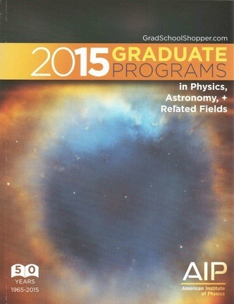 2015 Graduate Programs in Physics, Astronomy, and Related Fields
