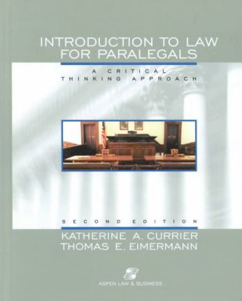 Intro to Law for Paralegals: Pb